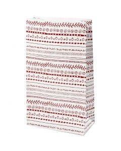Paperipussi, Doodle, Kork. 21 cm, koko 6x12 cm, 8 kpl/ 1 pkk