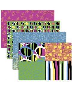 Decoupagepaperi, 25x35 cm, 17 g, iloiset värit, 4x2 ark/ 1 pkk