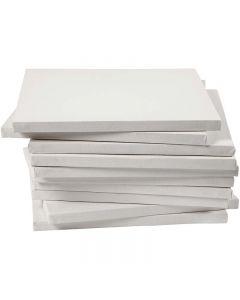 Taulupohjat, koko 30x30 cm, 280 g, valkoinen, 40 kpl/ 1 pkk