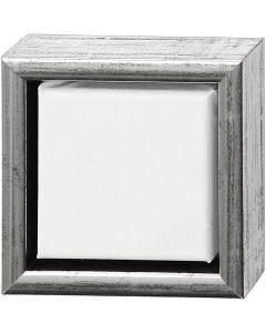 ArtistLine taulupohjat, syvyys 3 cm, koko 14x14 cm, valkoinen, antiikkihopean väris, 1 kpl