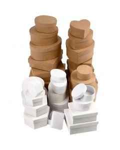 Pahvirasialajitelma, koko 6,5-18 cm, ruskea, valkoinen, 30 kpl/ 1 set