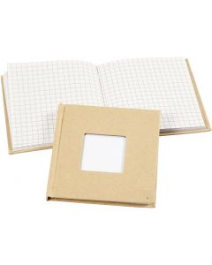 Muistikirja, koko 10x10 cm, 60 g, ruskea, 1 kpl