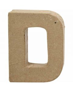 Kirjain, D, Kork. 10 cm, Lev: 7,7 cm, paksuus 1,7 cm, 1 kpl
