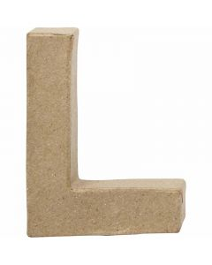 Kirjain, L, Kork. 10 cm, Lev: 7,5 cm, paksuus 1,7 cm, 1 kpl