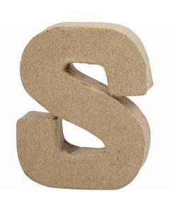 Kirjain, S, Kork. 10 cm, Lev: 8 cm, paksuus 1,7 cm, 1 kpl