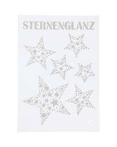 Taipuisa sabloni, tähdet, A4, 210x297 mm, 1 kpl