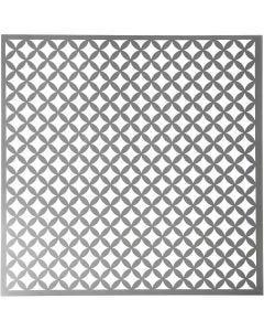 Sabloni, pyöristetyt neliöt, koko 30,5x30,5 cm, paksuus 0,31 mm, 1 ark