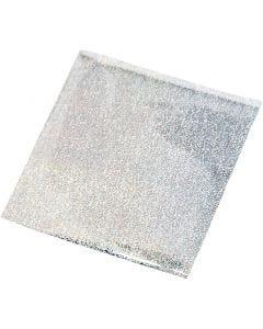 Metallifolio, 10x10 cm, hopea, 30 ark/ 1 pkk