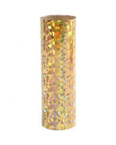 Koristefolio, Lev: 15,5 cm, paksuus 0,02 mm, kulta, 50 cm/ 1 rll