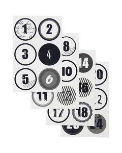 Joulukalenteritarrat, halk. 4 cm, 9x14 cm, 4 laj/ 1 pkk