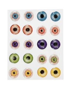 3D-silmät, halk. 20 mm, 1 ark