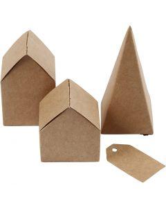 Leikatut talot ja puut, Kork. 5,7-10 cm cm, 1 set