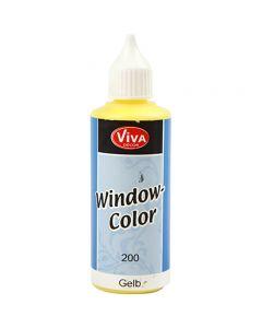 Ikkunaväri, keltainen, 80 ml/ 1 pll