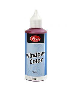 Ikkunaväri, pinkki, 80 ml/ 1 pll