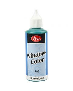 Ikkunaväri, tummanvihreä, 80 ml/ 1 pll
