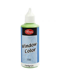 Ikkunaväri, vaaleanvihreä, 80 ml/ 1 pll