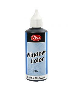 Ikkunavärin rajausväri, musta, 80 ml/ 1 pll