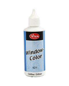 Ikkunaväri, kimallehopea, 80 ml/ 1 pll