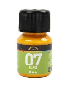 A-Color Lasimaali, keltainen, 30 ml/ 1 pll