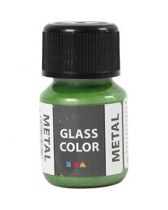 Glas Color Metal lasimaali, vihreä, 30 ml/ 1 pll
