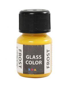 Glas Color Frost huurremaali, keltainen, 30 ml/ 1 pll
