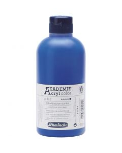 Schmincke AKADEMIE® Akryylimaali, peittävä, cobalt blue hue deep (443), 500 ml/ 1 pll