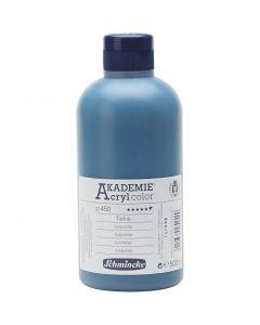 Schmincke AKADEMIE® Akryylimaali, läpikuulto, turquoise (450), 500 ml/ 1 pll