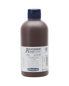 Schmincke AKADEMIE® Akryylimaali, peittävä, burnt umber (669), 500 ml/ 1 pll
