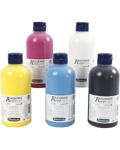 Schmincke AKADEMIE® Akryylimaali, 5x500 ml/ 1 pkk