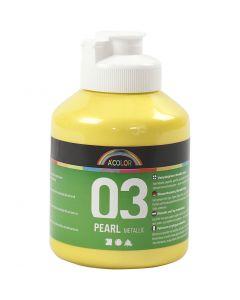Koulu akryylimaali metallic, metallinen, keltainen, 500 ml/ 1 pll