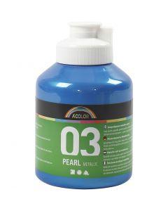 A-Color akryylimaali, metallinen, sininen, 500 ml/ 1 pll