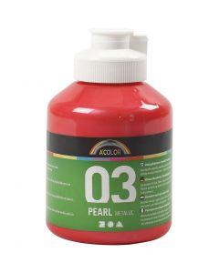 A-Color akryylimaali, metallinen, punainen, 500 ml/ 1 pll
