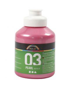 A-Color akryylimaali, metallinen, vaaleanpunainen, 500 ml/ 1 pll