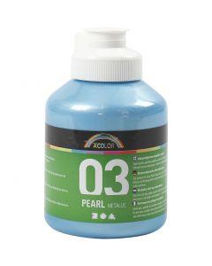 A-Color akryylimaali, metallinen, vaaleansininen, 500 ml/ 1 pll