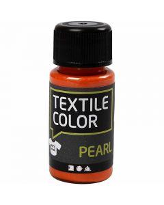 Textile Color Pearl, helmiäinen, oranssi, 50 ml/ 1 pll