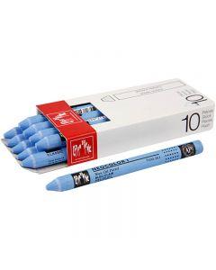 Neocolor 1, Pit. 10 cm, paksuus 8 mm, light blue (161), 10 kpl/ 1 pkk