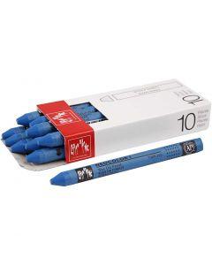 Neocolor 1, Pit. 10 cm, paksuus 8 mm, cobalt blue (160), 10 kpl/ 1 pkk