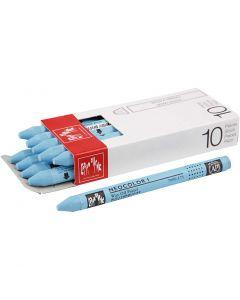 Neocolor 1, Pit. 10 cm, paksuus 8 mm, turquoise blue (171), 10 kpl/ 1 pkk