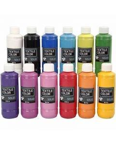 Textile Color Solid, peittävä, värilajitelma, 12x250 ml/ 1 pkk
