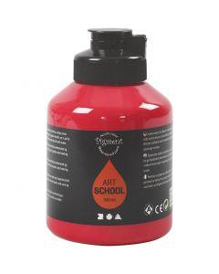 Pigment Art School, läpikuulto, peruspunainen, 500 ml/ 1 pll