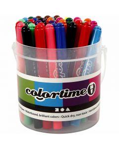 Colortime-tussit, paksuus 5 mm, värilajitelma, 42 kpl/ 1 pkk