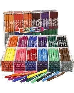 Colortime-tussit, paksuus 5 mm, värilajitelma, 576 kpl/ 1 pkk