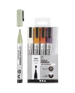 Liitutussi, paksuus 1,2-3 mm, murretut värit, 5 kpl/ 1 pkk