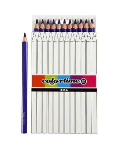 Colortime-värikynät, Pit. 17,45 cm, kärki 5 mm, JUMBO, violetti, 12 kpl/ 1 pkk