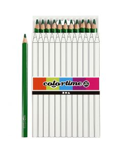 Colortime-värikynät, Pit. 17,45 cm, kärki 5 mm, JUMBO, vihreä, 12 kpl/ 1 pkk