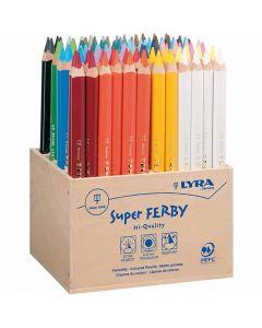 Lyra Super Ferby 1 värikynät, Pit. 18 cm, kärki 3 mm, värilajitelma, 96 kpl/ 1 pkk