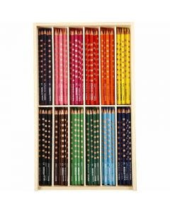Groove-värikynät ohuet, Pit. 18 cm, kärki 3,3 mm, värilajitelma, 12x12 kpl/ 1 pkk