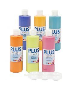 Plus Color- askartelumaali, 6x250 ml/ 1 pkk