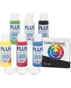 Plus Color- askartelumaali, perusvärilajitelma, 6x60 ml/ 1 pkk
