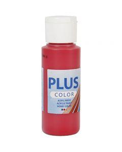 Plus Color- askartelumaali, marjanpunainen, 60 ml/ 1 pll